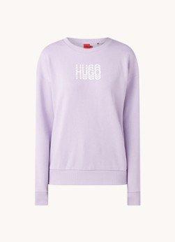 Hugo Boss HUGO BOSS Nakira sweater met logoprint