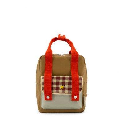 Sticky Lemon Sticky Lemon Small Backpack Gingham Pool Green + Apple Red + Leaf Green