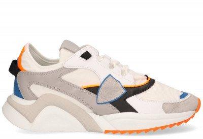 Philippe Model Philippe Model Eze Mondial Neon Wit/Oranje Herensneakers