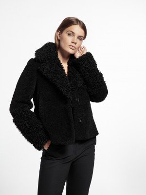 Beaumont Beaumont Lama mix coat - Black