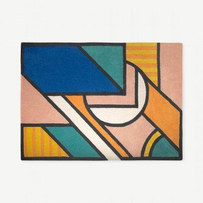 MADE.COM Supermundane groot wollen vloerkleed, 160 x 230 cm, meerkleurig