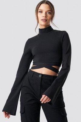 Ivana Santacruz X NA-KD Ivana Santacruz X NA-KD Waist Strap Long Sleeve Crop - Black
