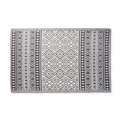Xenos Buitenkleed ethnic - zwart/wit - 120x180 cm