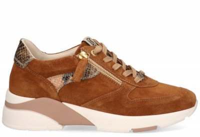 DLSport DLSport 4642 Cognac Damessneakers