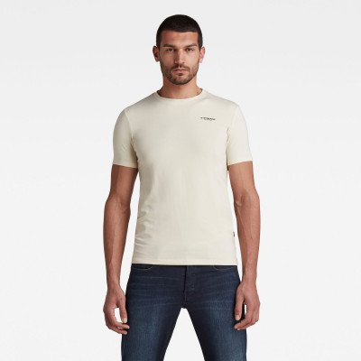 G-Star RAW Slim Base T-Shirt - Beige - Heren