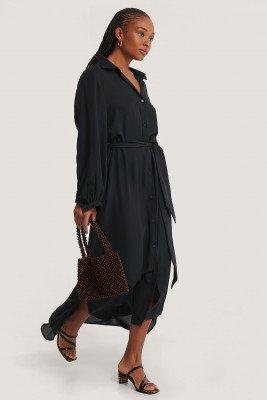 NA-KD Classic NA-KD Classic Maxi Belted Dress - Black