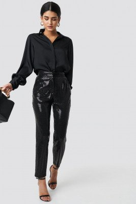 Trendyol Trendyol Payet Cropped Pants - Black