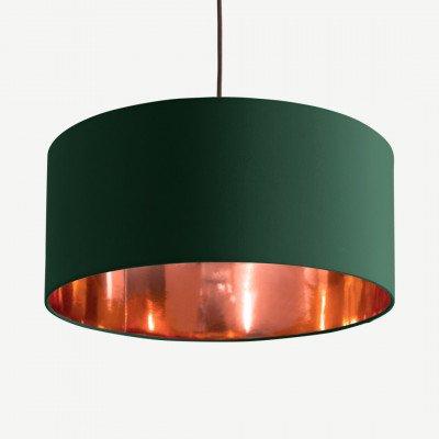 MADE.COM Oro hanglampenkap, groen en koper