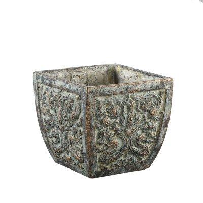 Firawonen.nl Ptmd hillary groen cement pot antiek patroon
