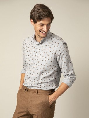 Cavallaro Napoli Cavallaro Napoli Heren Overhemd - Ferrano Overhemd - Grijs