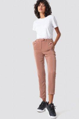 NA-KD NA-KD Shiny Suit Pants - Pink