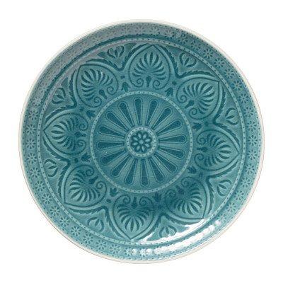 Xenos Dinerbord Yasmine - blauw - 25.5 cm