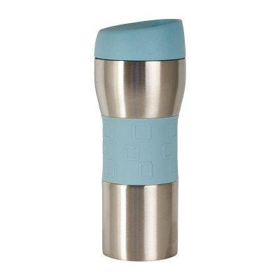 Thermo drinkfles - blauw - 400 ml