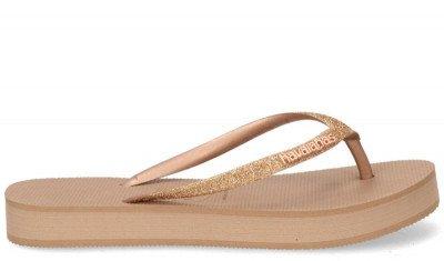 Havaianas Havaianas Slim Flatform Glitter Goud Damesslippers