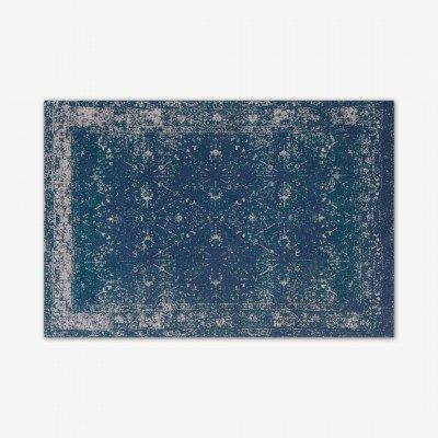 MADE.COM Yolanda Perzisch vloerkleed, 160 x 230 cm, groenblauw