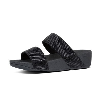 FitFlop FitFlop Mina Crystal slippers zwart