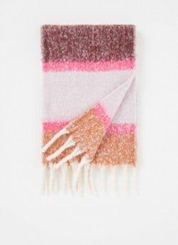 Barts Barts Fridan sjaal met streepprint 160 x 30 cm