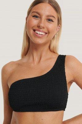 Kim Feenstra x NA-KD Bikinitop Met Één Blote Schouder - Black