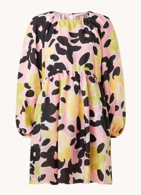 STINE GOYA STINE GOYA Kelly mini jurk met bloemenprint en volant