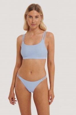 NA-KD Swimwear Two Strap Bikini Panty - Blue