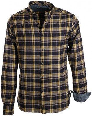 Dstrezzed Dstrezzed Overhemd Navy Geel Ruit