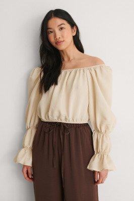 Trendyol Trendyol Off-Shoulder Blouse - Beige