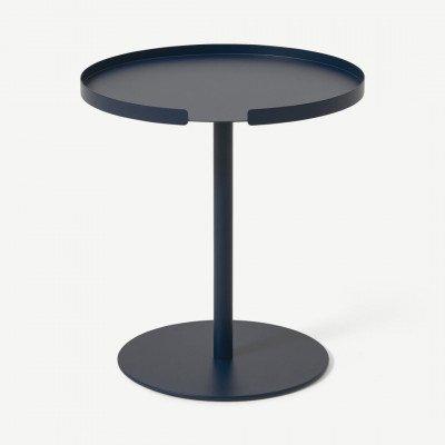 MADE.COM Design Bite bijzettafel, nachtblauw