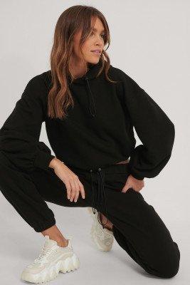 Melissa Bentsen x NA-KD Melissa Bentsen x NA-KD Hoodie Met Trekkoord - Black