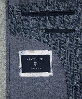 Profuomo Profuomo heren blauw knitted colbert