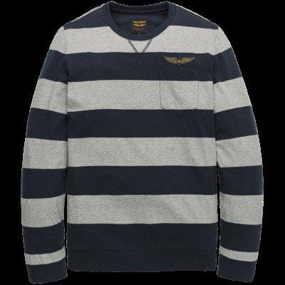 PME Legend PME Legend Long sleeve r-neck Striped Jersey