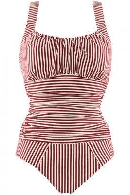 Marlies Dekkers holi vintage unwired padded bathing suit   unwired padded red-ecru - L
