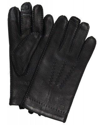 Profuomo Profuomo heren zwarte hertenleren handschoenen