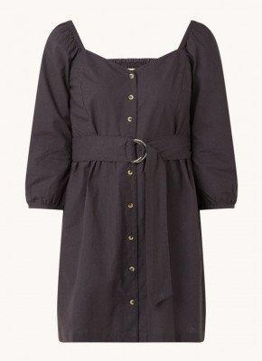 BA&SH ba&sh Cyrielle mini jurk van katoen met ceintuur