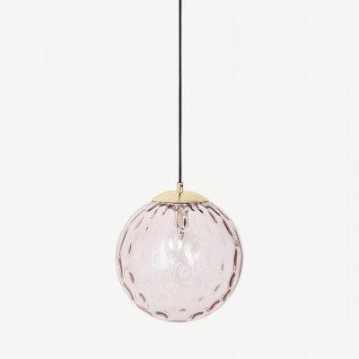 MADE.COM Ilaria badkamer hanglamp, roze en messing