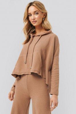 Trendyol Trendyol Hooded Knitted Sweatshirt - Brown
