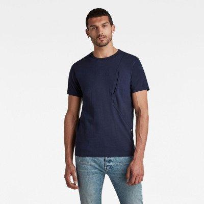 G-Star RAW Pocket R T-Shirt - Donkerblauw - Heren