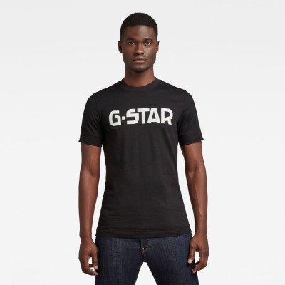 G-Star RAW T-shirt Originals Logo - Zwart - Heren