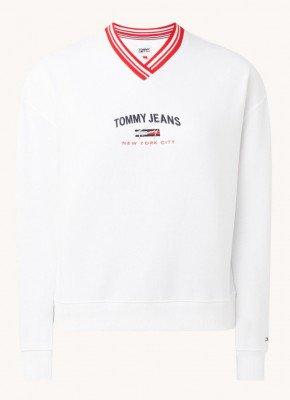 Tommy Hilfiger Tommy Hilfiger Sweater met V-hals en logoborduring