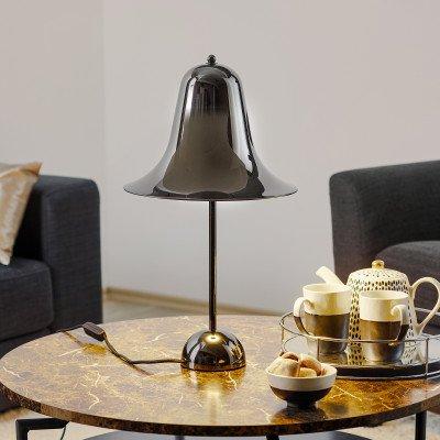 Verpan VERPAN Pantop - tafellamp, zwart glanzend