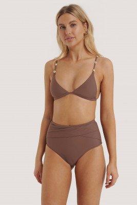 NA-KD Swimwear Bikinibroekje Met Hoge Taille - Purple