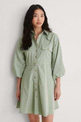 Trendyol Trendyol Shirt Mini-Jurk - Green