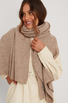 NA-KD Accessories NA-KD Accessories Alpacamix Sjaal - Beige