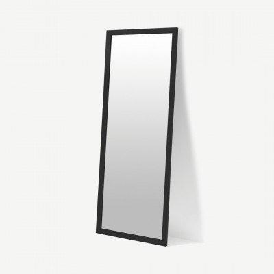 MADE.COM Keily staande spiegel, extra groot, 65 x 170 cm, zwart