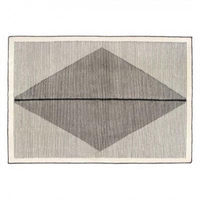 MADE.COM Camden geruit vloerkleed 160 x 230 cm, zwart en gebroken wit
