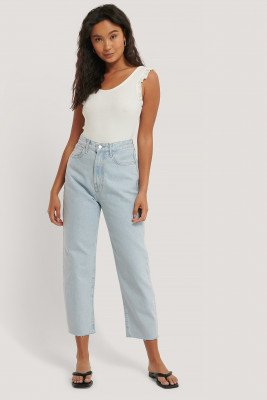 Mango MANGO Cropped Jeans Met Ballonpijpen - Blue
