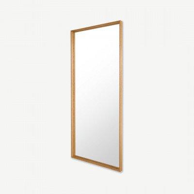 MADE.COM Wilson spiegel, massief hout, 80 x 180 cm, eiken