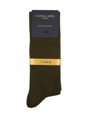 Cavallaro Napoli Cavallaro Napoli Heren Ondershirts - Socks 2-pack Dark green OS - Donkergroen