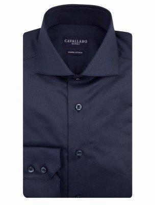 Cavallaro Napoli Cavallaro Napoli Heren Overhemd - Edificio Overhemd - Donkerblauw