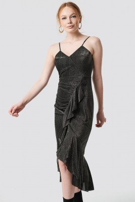 Trendyol Trendyol Luminous Midi Dress - Grey