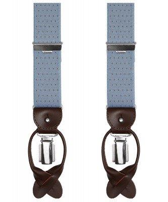 Profuomo Profuomo heren blauwe pindot bretels
